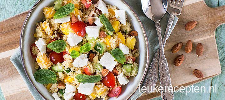 frisse couscous salade met mango