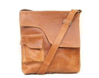 Borsa borsa in pelle Messenger bag uomo donna in pelle di abizema