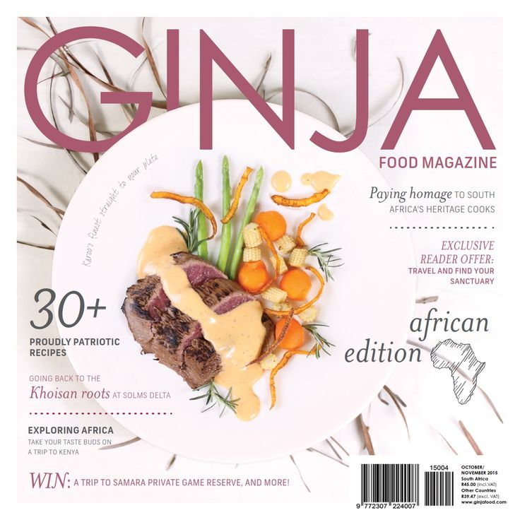 GINJA Food & Lifestyle Magazine Issue '20 - Purchase your digital or print subscription from http://www.ginjafood.com/shop/ or email