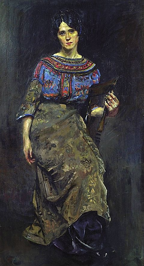 ▴ Artistic Accessories ▴ clothes, jewelry, hats in art - Krohg Christian