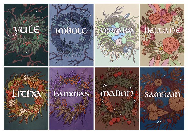 Wheel of the Year by Ner-Tamin.deviantart.com on @DeviantArt