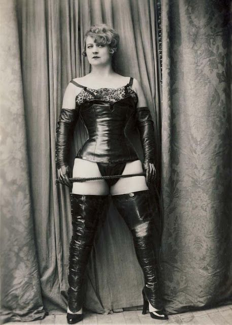 Model & seamstress Nativa in photographs for Yva Richards c1930s Paris from 'The History & Arts of the Dominatrix' book by Anne O Nomis ISBN 9780992701000