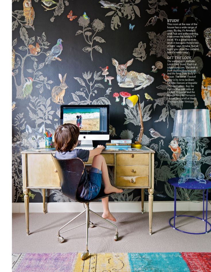 Currently trying to convince Rich to let me use something like this Nathalie Lété wallpaper in the dining room.