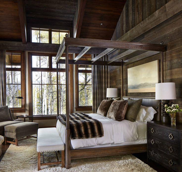 Home Interior Design Master Bedroom In Modern Colorado Cabin