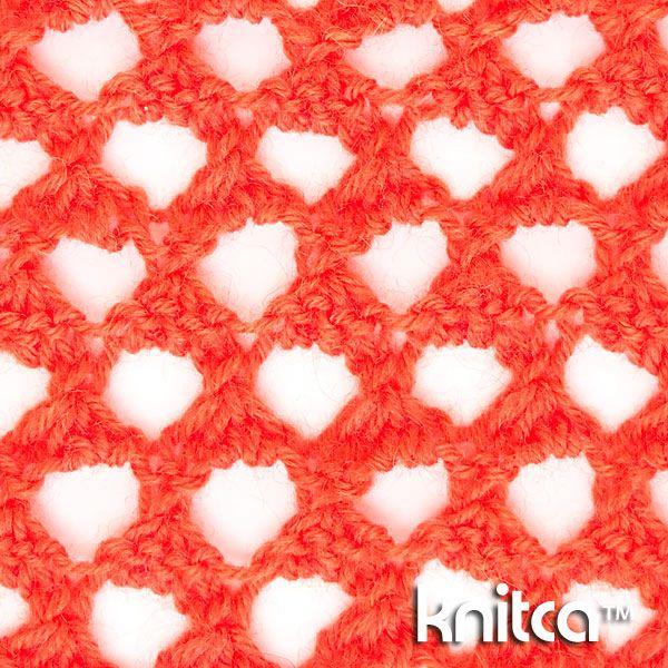 Extreme lace knitting stitch pattern at Knitca