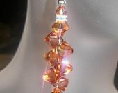 Swarovski Crystal Rock Candy Earrings in Crystal Copper