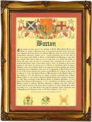 Surname Database: Burton Last Name Origin