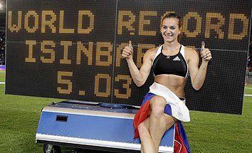 atletismo y algo más: 1037. Yelena Isinbayeva vuelve a batir el récord m...