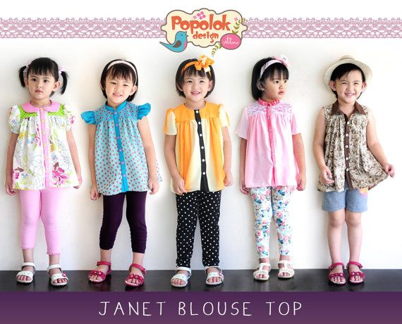 * JANET Blouse Top - by popolok design