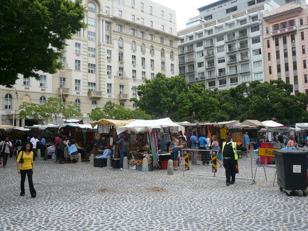 What to do in Cape Town South Africa  Visit the ethnic market at Greenmarket Square in the city bowl.