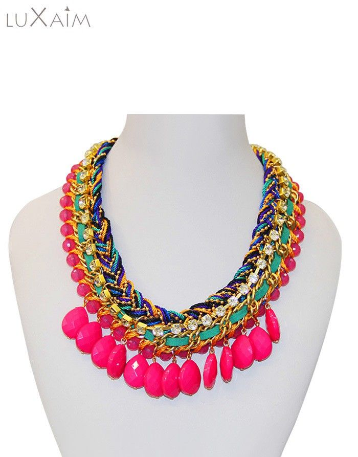 #Pearl pink colored Necklace by @ReturnFavors.