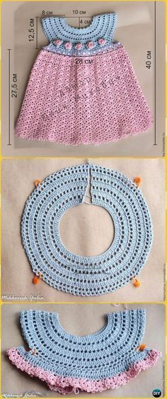Crochet Girls Dress Kostenlose Anleitungen und Anleitungen – #Baby