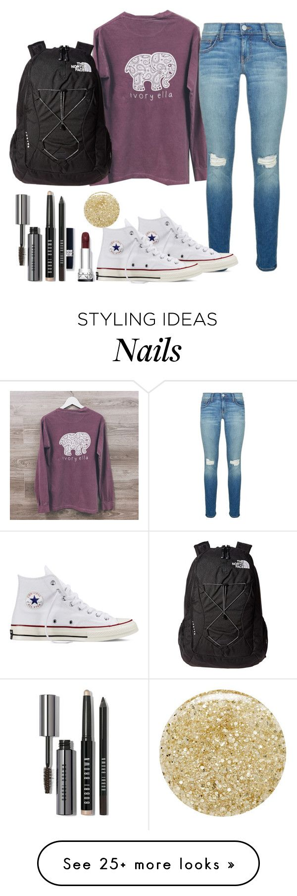 """""""Ivory#2"""" by fashionworldoflove on Polyvore featuring Rebecca Minkoff, Converse, The North Face, Bobbi Brown Cosmetics and Lancôme"""
