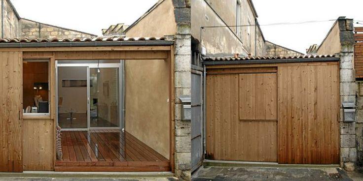 Skyvedørene fungerer som inngang i boligen.