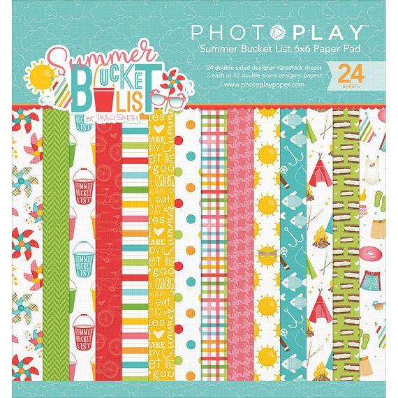 Photo Play Paper Summer Bucket List Collection Scrapbook