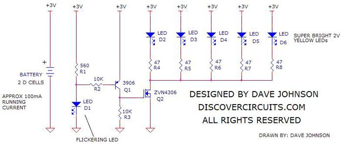 Flameless Flickering LED Candle Power Boost Circuit