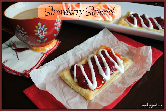 Strawberry Struedel Recipe Pastries Strudel And Toaster