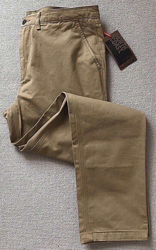 newest selection pretty and colorful shoes for cheap M&S North Coast Men's Cotton Chinos New - Slim Fit 34W 31Leg ...