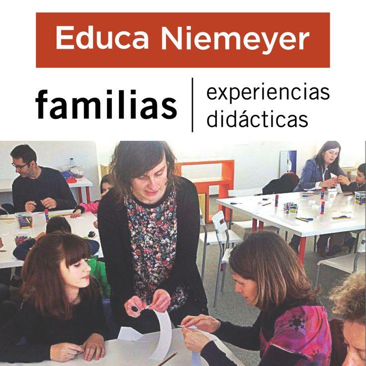 El programa Experiencias didácticas para Familias ofrece la visita de alguna de las distintas exposiciones en curso más una práctica didáctica en el espacio Educa Niemeyer del Centro Niemeyer.