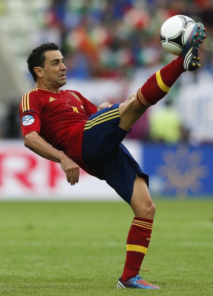 UEFA Euro 2012, Xavi (Spanien), zentraler Mittelfeldspieler.