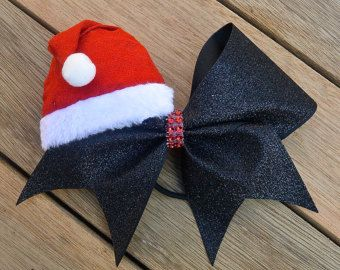 Christmas Cheer Bow Santa Claus Bow Christmas por HarloBowtique