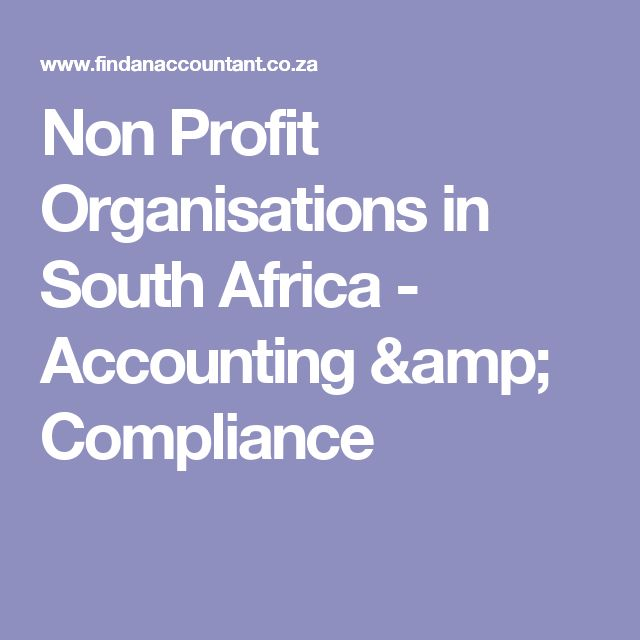 Non Profit Organisations in South Africa - Accounting & Compliance