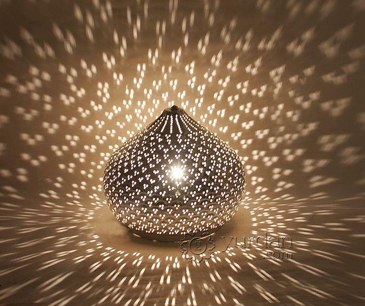 Love The Way The Light Dances Onto The Floor Around This Turkish Lamp.