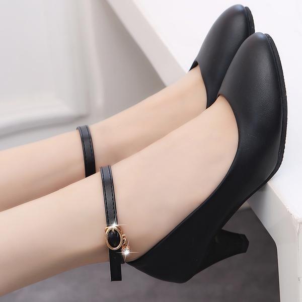 Women Dress Shoes Black Office Lady