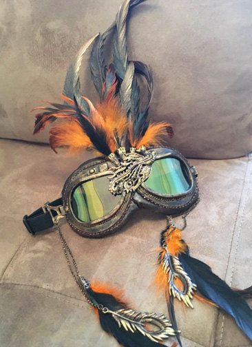Burning Man Goggles Steampunk Goggles PHOENIX by FromThePerch