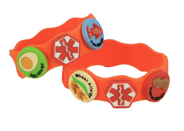Neat Wrist band for kids with food allergies.