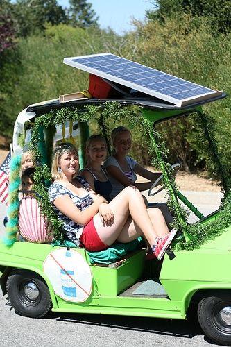 solar powered golf cart, how cool!