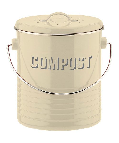 Look at this Cream Compost Pail on #zulily today!