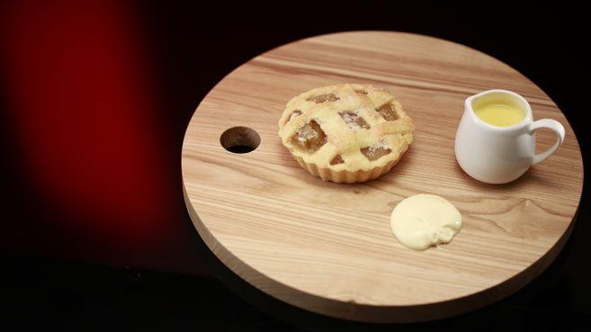 Petit Apple Lattice Pies with Spiced Crème Anglaise