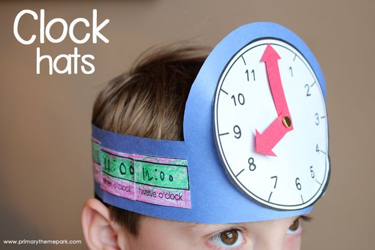 FREE clock hat templates. Great telling time activity for young learners!