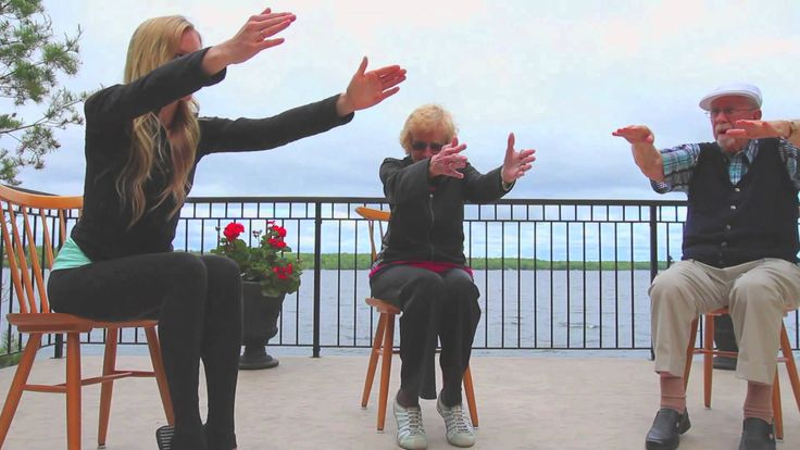 Repin: This video has been created for those who are new to yoga. The older adults in this video are over 80 years of age and have never before done yoga. This yoga can also be done with people who have been diagnosed with dementia. The objective is to keep the body and mind working well into dementia. Enjoy!
