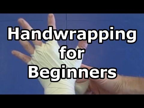 Hand wrapping Basics - How to wrap your hands for boxing, kickboxing, and Muay Thai with long wraps - YouTube