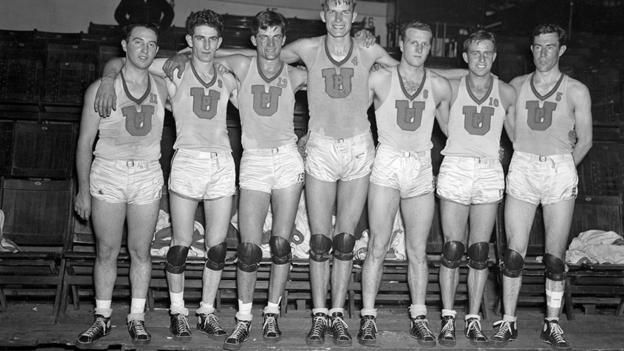 US Olympic Basketball team, 1936 (Bettmann/Corbis) (Credit: Bettmann/Corbis)