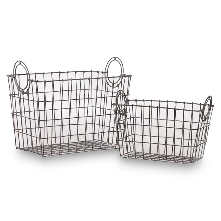 Square Wire Baskets - Set of 2: Metals Baskets, Collection Metals, Trends Collection, Urban Trends, Overstock Com Shops, Baskets Sets, Trends Metals, Wire Baskets, Large Basketconstruct