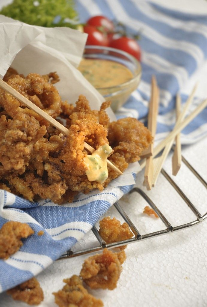 Crumbed Calamari with a Spicy Dip, by @ninatimm   #Knorr #CrispyAndTasty #SouthAfrican #recipes