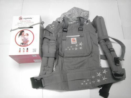 WORLDWIDE FREE SHIPPING  New ErgoBaby Carrier with Box and Manual GALAXY GREY