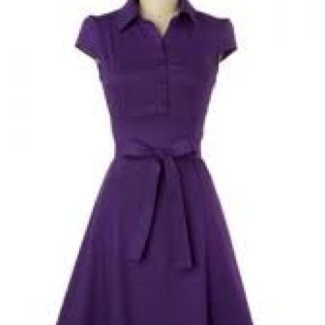 Fantastic dress for pear shaped girls and a gorgeous colour.