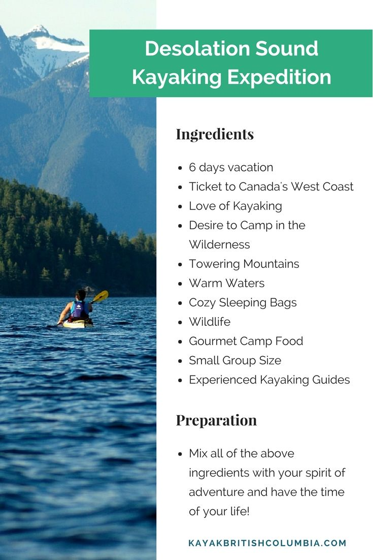 Time to plan your summer vacation. Kayaking and Camping on Canada's West Coast.
