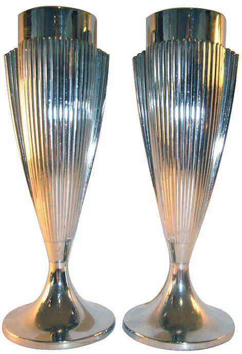 Lovely Matching 1930s Art Deco Vases