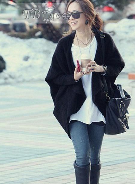 New Arrival Temperament Loose Asymmetrical Hot Selling Cardigan Outwear