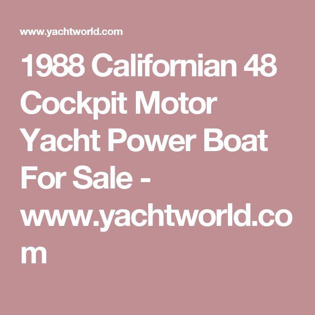 1988 Californian 48 Cockpit Motor Yacht Power Boat For Sale - www.yachtworld.com