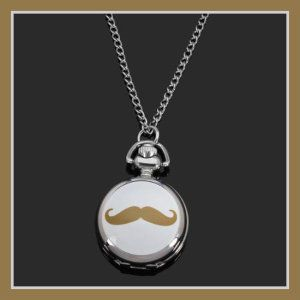Yellow Mustache Chain Necklace Silver Ceramic Women Pocket Watch By Chonlyshop Specification: Item Type: Pocket Watch Dial Window Material Type: Hardlex Glass Movement: Quartz Watch Dial Diameter: About 2.8 cm Dial Thickness: About 1 cm  http://theceramicchefknives.com/ceramic-watches-women/