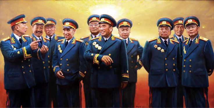 The 'Ten Great Marshals' of the PRC (left to right): Nie ...