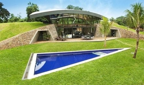 Splendide maison moderne et enterrée dans le climat tropical du Paraguay,  #construiretendance
