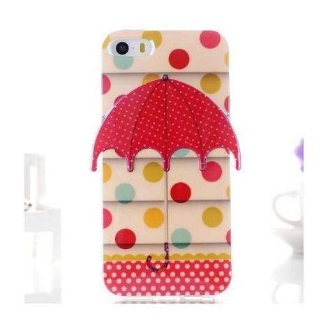 Coques / Protections iPhone 5 / 5S - Coque de protection iPhone 5 et 5S en TPU souple parapluie à pois - nemtytab.com 6,20 EUR
