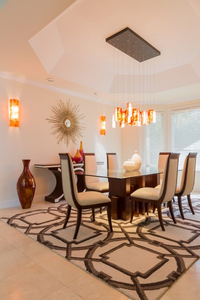 large drops dining room transitional contemporary custom fused glass dining room chandelier colorful - Dining Room Lighting Trends